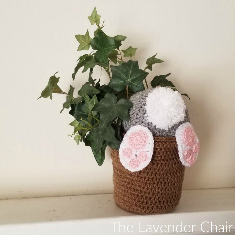 Bunny Bum Flower Pot - Free Crochet Pattern - The Lavender Chair
