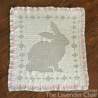 Filet Bunny Blanket Crochet Pattern