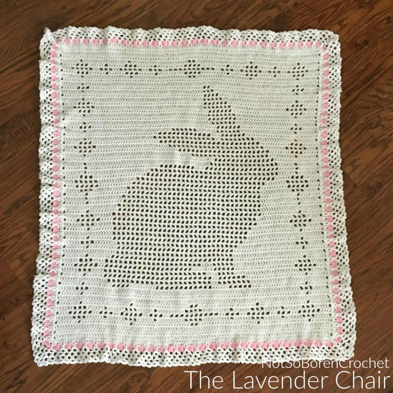 Filet Bunny Blanket Crochet Pattern The Lavender Chair