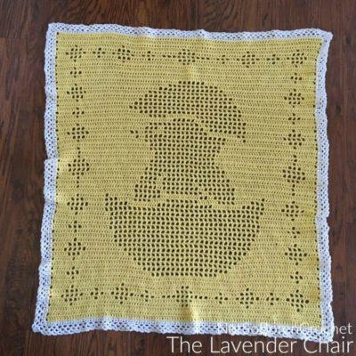 Filet Chick Baby Blanket Crochet Pattern