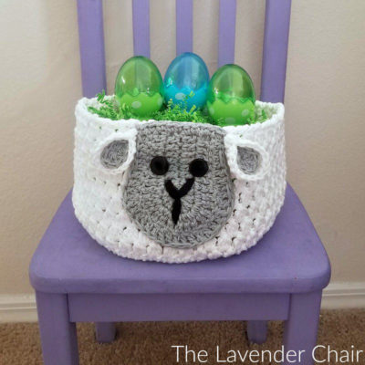 Sam Sheep Easter Basket Crochet Pattern