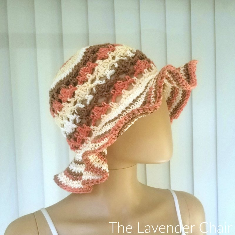 Meshy Shells Sunhat - Free Crochet Pattern - The Lavender Chair